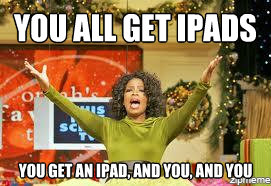 Oprah Giving Away Ipads MeMe