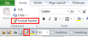 Excel's Format Painter