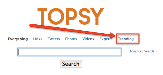 Go To Topsy Social Trends