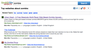 Similar Site Search For Zombies