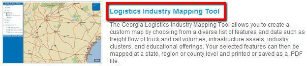 Logistics Industry Mapping Tool
