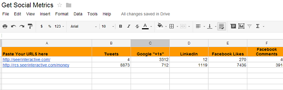 SharedCount Googledoc