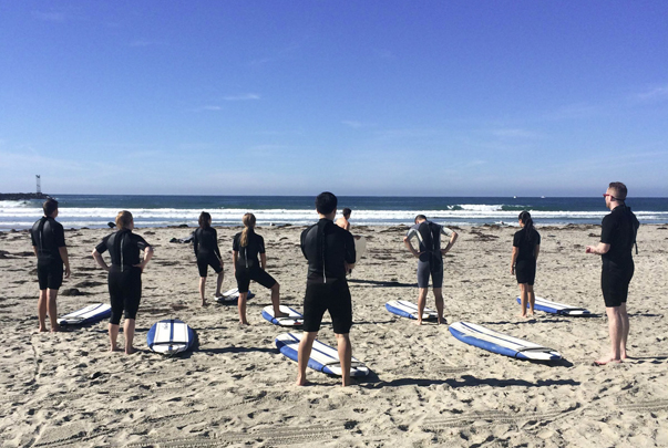 Seer San Diego Taking Surfing Lessons