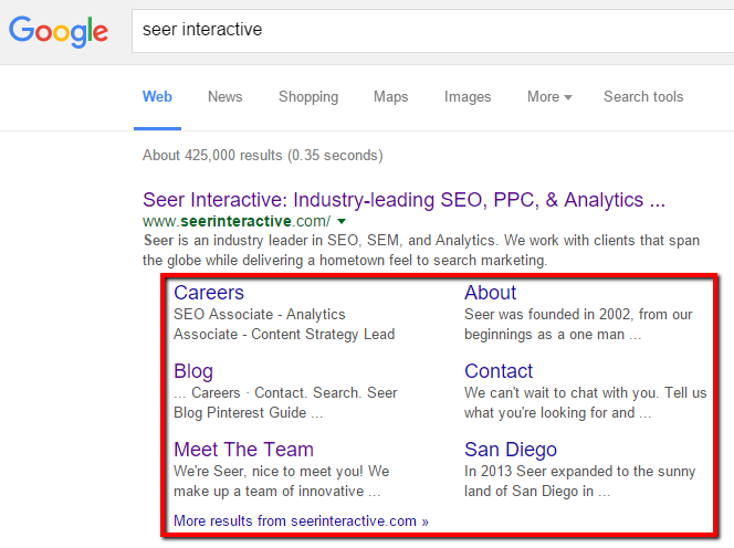 seer-interactive-google-sitelinks