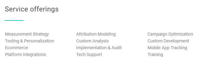Seer Interactive Analytics Service Offerings | Google Analytics 360