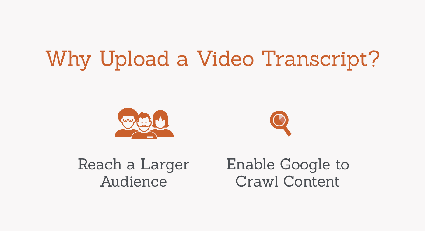 why upload a video transcript graphic