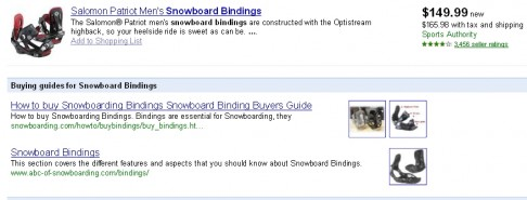 snowboard bindings - google products