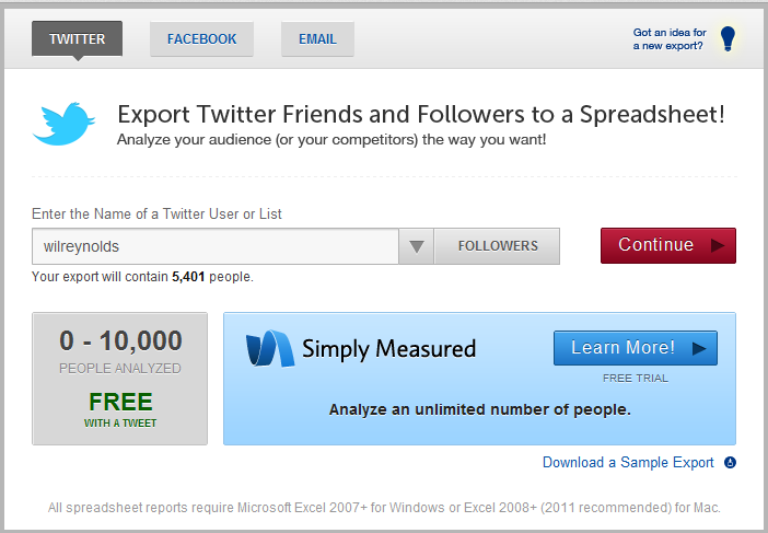 twitter tool exportly 1 Usare Twitter e Backlinks per campagne link building