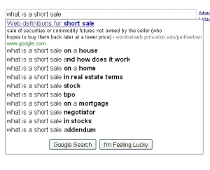 what is a short sale-suggest
