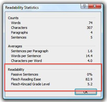 How to Check your Content's Reading Level in Word (for PC