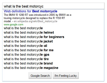 Google Suggest SERP