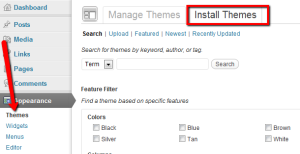 Search for your WordPress theme