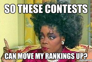 Contest move rankings up Oprah Meme