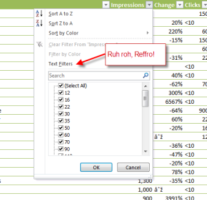 wrong cell formatting in Excel