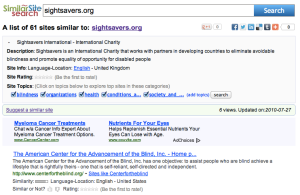 Similar Site Search For SiteSavers.org