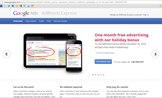 FAQ Express Sitelinks Landing Page