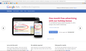 Costs Express Sitelink Landing Page