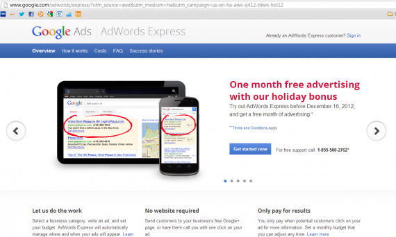 AdWords Express Landing Page