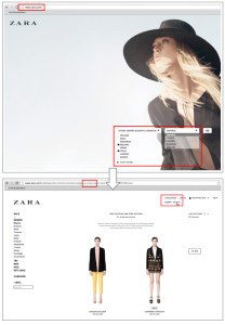 Change Country Option in Zara