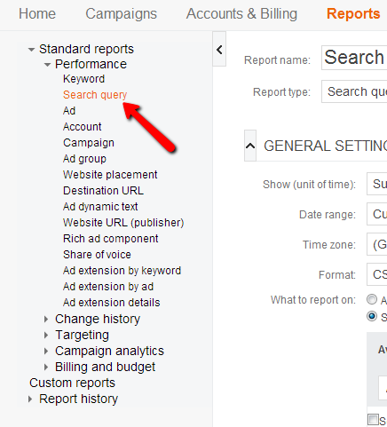 Bing Search Query Reports