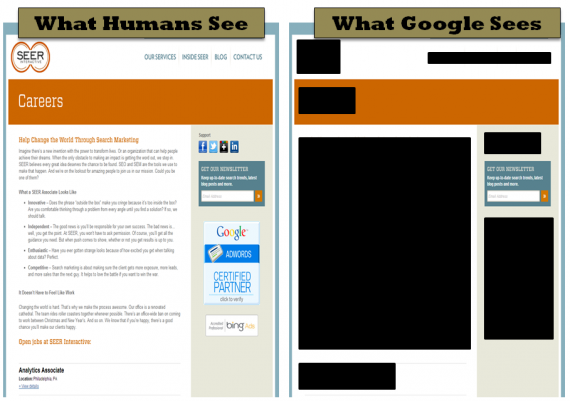 What Humans See vs. What Google Sees