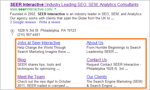 Organic SiteLinks on Google