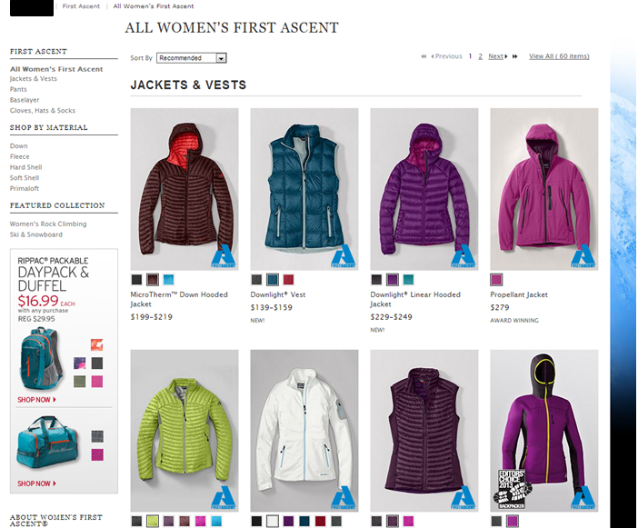 Winter Jackets Landing Page