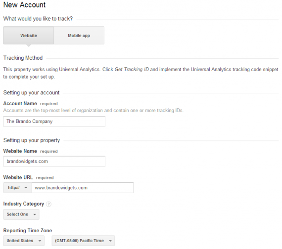 Google Analytics Account Settings