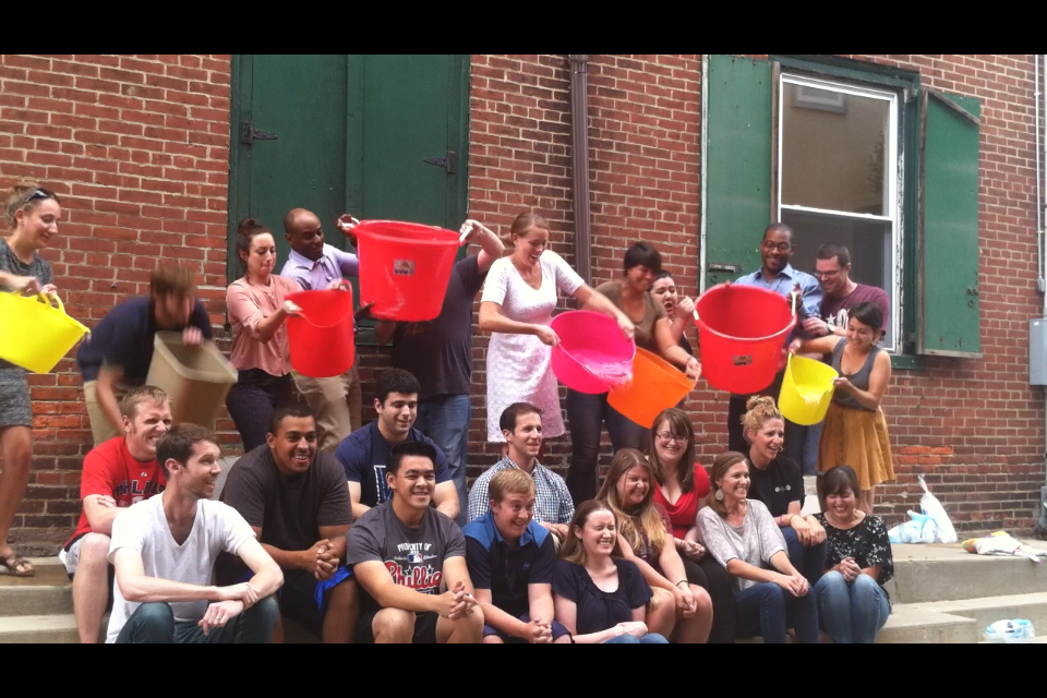 SEER Team Completing the #ALSicebucketchallenge