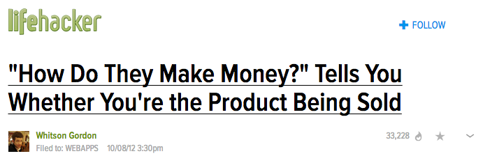 How Do They Make Money? Lifehacker Article Screenshot