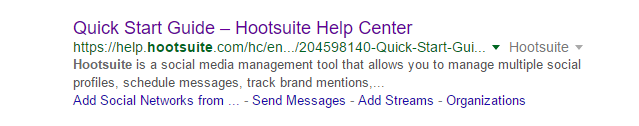 Hootsuite-four-sitelinks