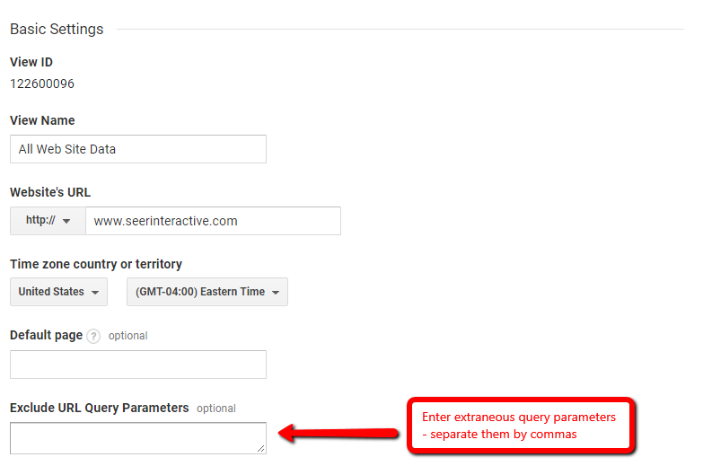 How to Clean Up Query Parameters in Google Analytics | Seer