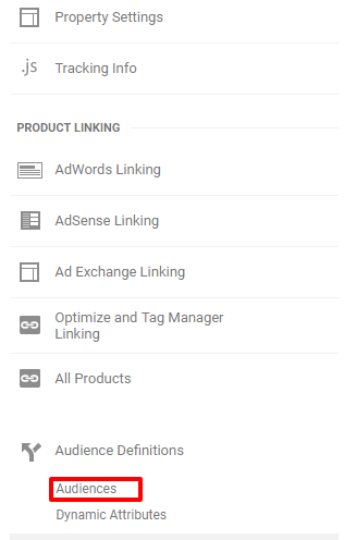How to select the Conditions Tab on Google Analytics