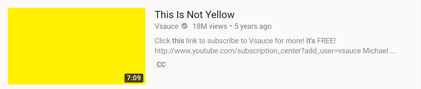 this is not yellow thumbnail example