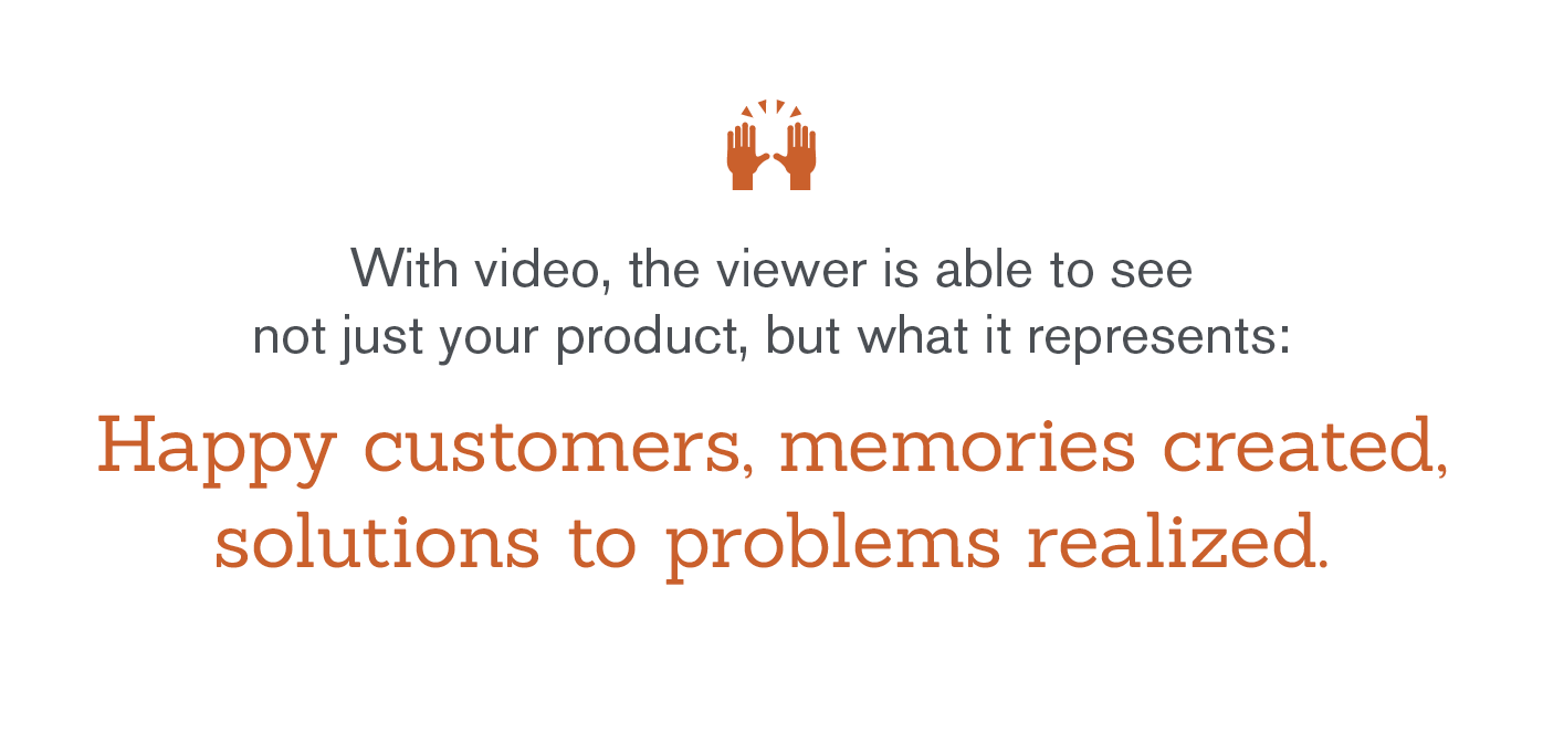 video visualizes more than just product