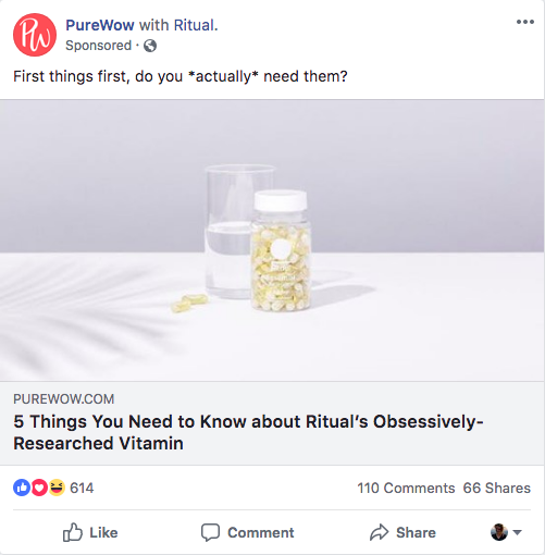 eCom in the Wild: Ritual Vitamins | Seer Interactive