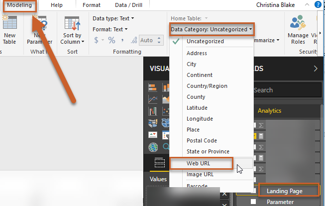 how to make links clickable power bi