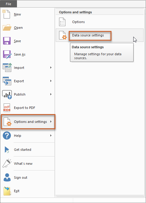 update data source settings in power bi