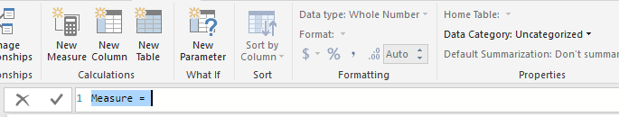 how to create a calculated measure power bi