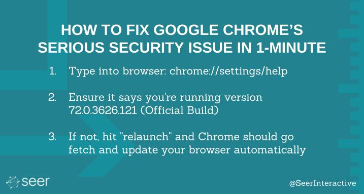 How to Fix Google Chrome's Serious Security Issue in 1 Minute | Seer