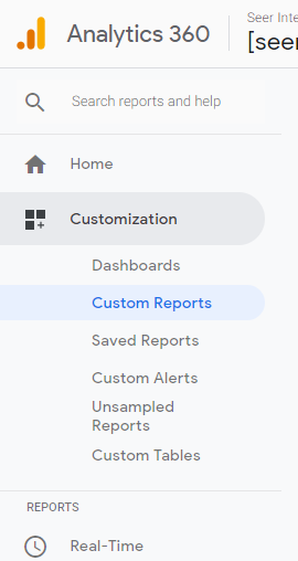 customreports 5 navigation
