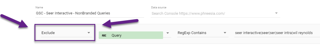 google-data-studio-exclude-filter