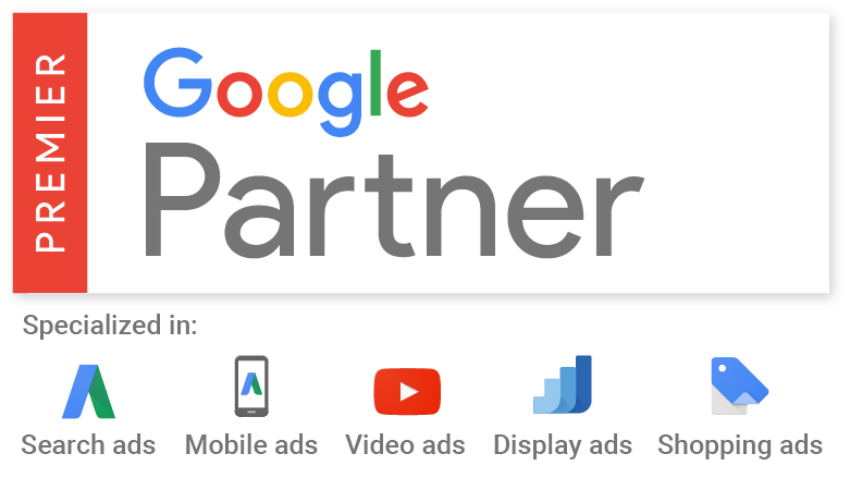 premier google partner RGB search mobile vid disp shop
