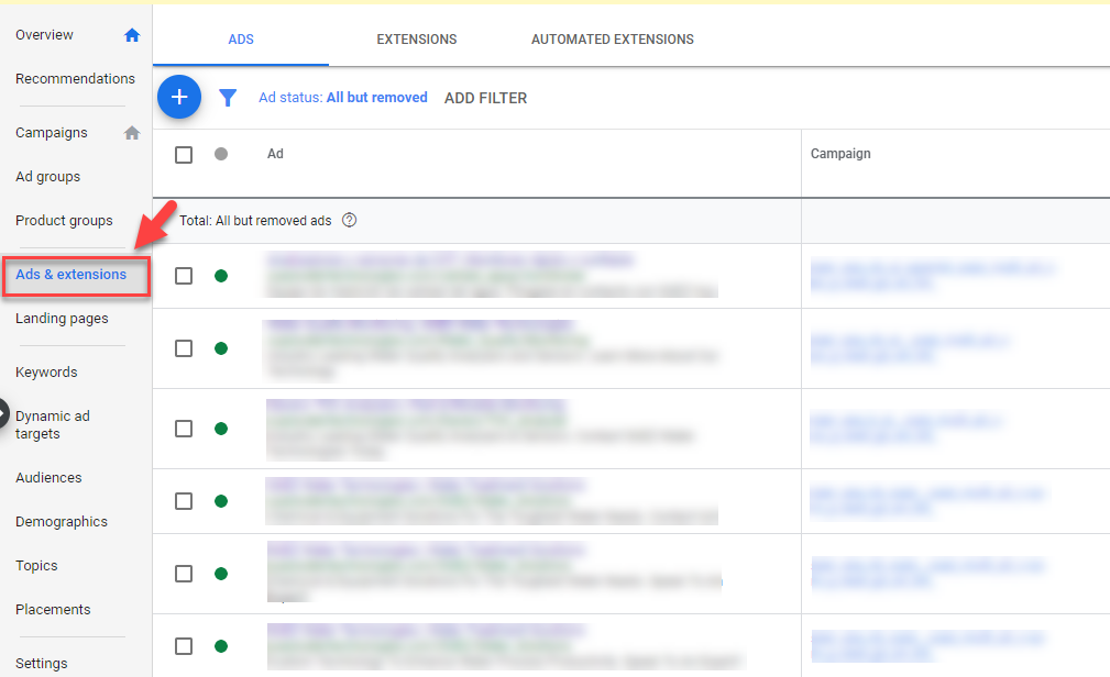 ads extensions