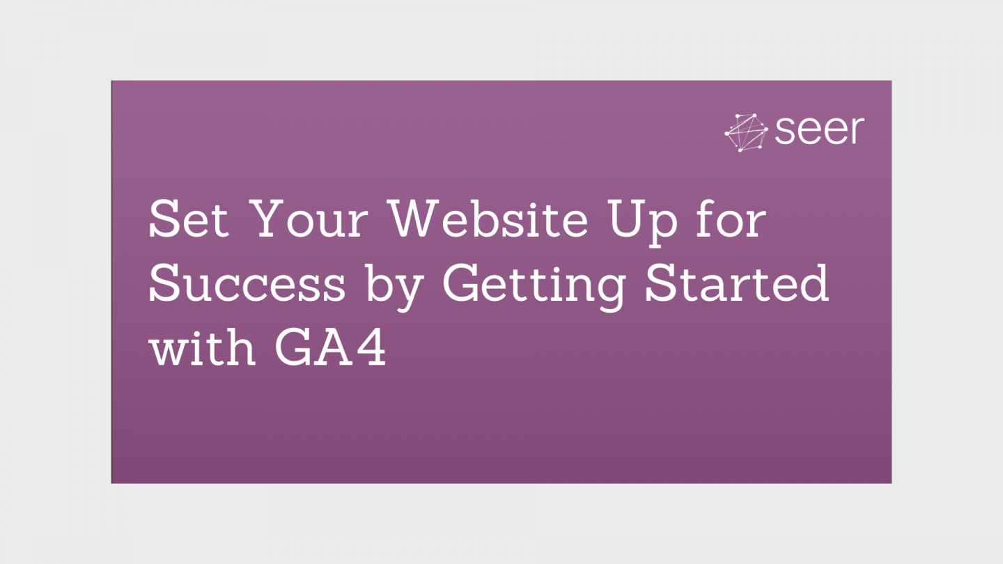 How to Set Up GA4 Web Tracking